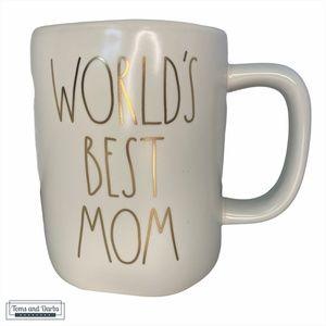 Rae Dunn WORLD'S BEST MOM in White